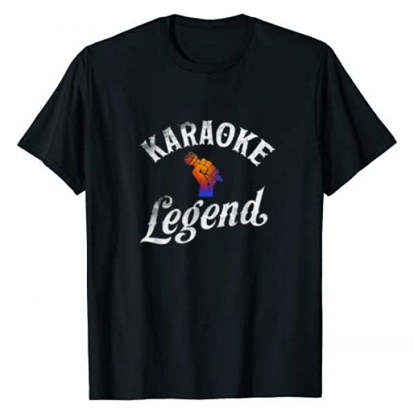 Karaoke Legend--T Shirt Graphic Tshirt 1 Karaoke Legend Microphone T Shirt Love Music Gifts Tee