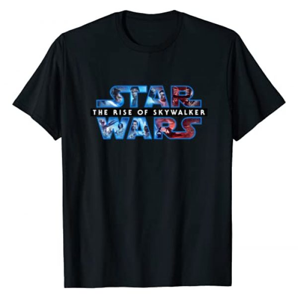 Star Wars Graphic Tshirt 1 The Rise of Skywalker Logo with Characters T-Shirt