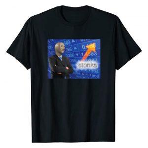Surreal Meme Designs Graphic Tshirt 1 Stonks Meme Man T-Shirt