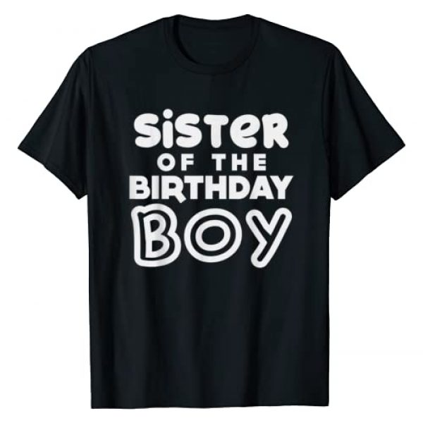 BoredKoalas Birthday Party Shirts Gifts Graphic Tshirt 1 Sister Of The Birthday Boy Sis Matching Family Party Gift T-Shirt
