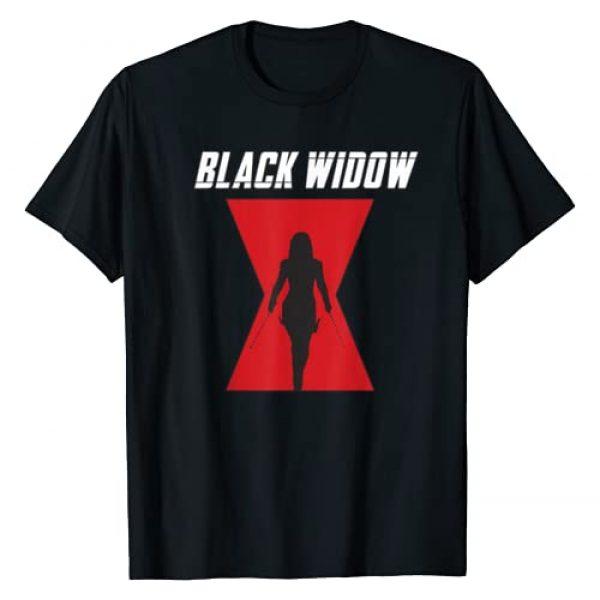 Marvel Graphic Tshirt 1 Black Widow Logo Silhouette T-Shirt