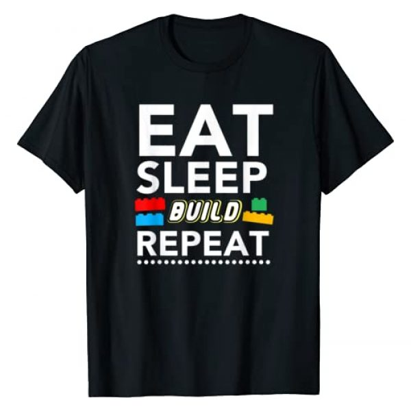 Evrything Awesome Funny Gifts Graphic Tshirt 1 Sleep Eat Build Repeat Building Blocks Bricks Master Builder T-Shirt