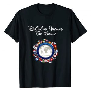 CC Bird Tees and Gifts Graphic Tshirt 1 Drinking Around the World Adult Vacation Gift Shirt T-Shirt