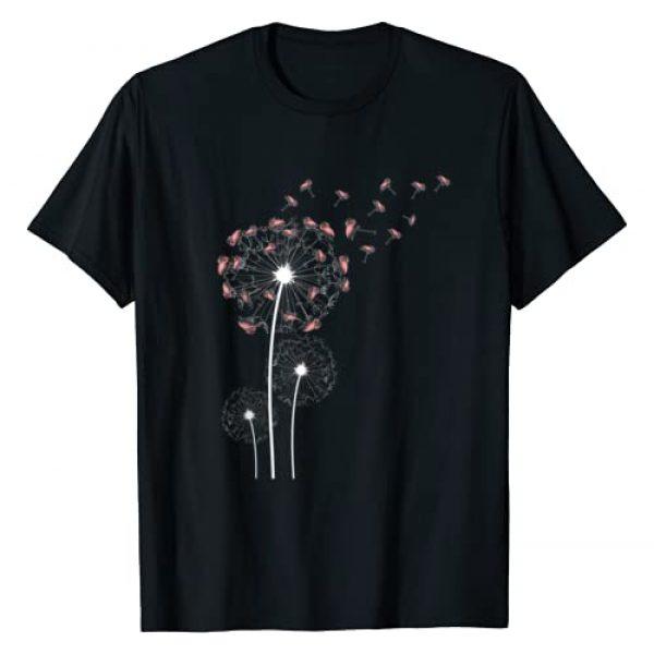 Birds Zoo Keeper Animal Gift Idea Flamingo Graphic Tshirt 1 Animal Lover Gift Bird Dandelion Flamingo T-Shirt