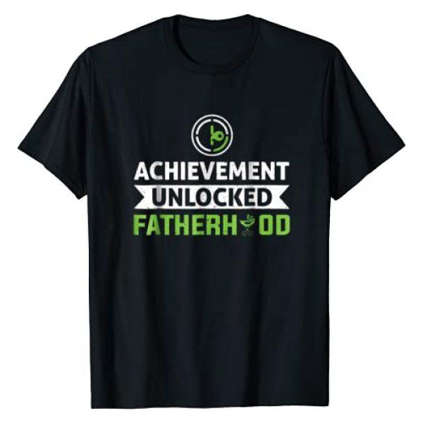 Achievement Unlocked Fatherhood New Dad Gamer Tee Graphic Tshirt 1 Father Achievement Unlocked Fatherhood New Dad Gamer Tee