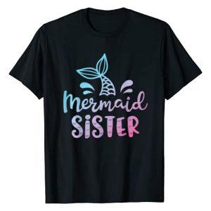 Mermaid Squad Co Graphic Tshirt 1 Mermaid Sister Funny Girls Women Family Matching Birthday T-Shirt