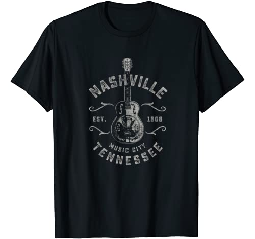 Nashville Music City Graphic Tshirt 1 USA Vintage T-Shirt