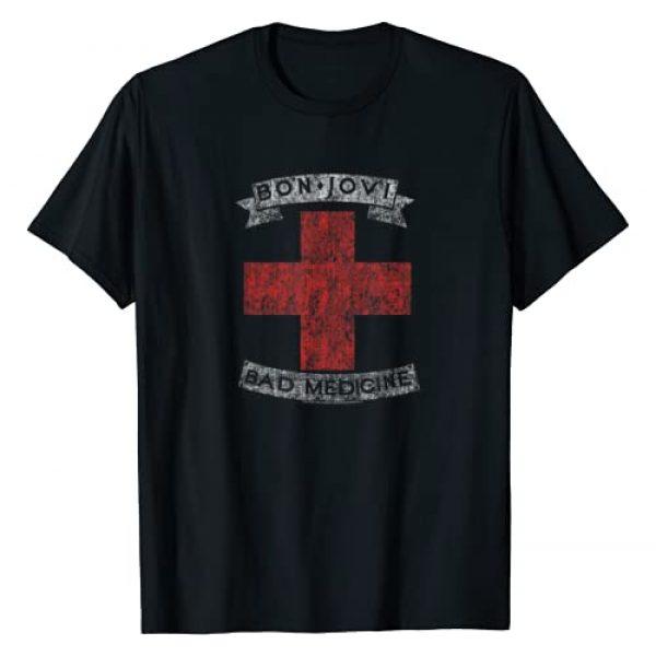 Bon Jovi Graphic Tshirt 1 Bad Medicine T-Shirt