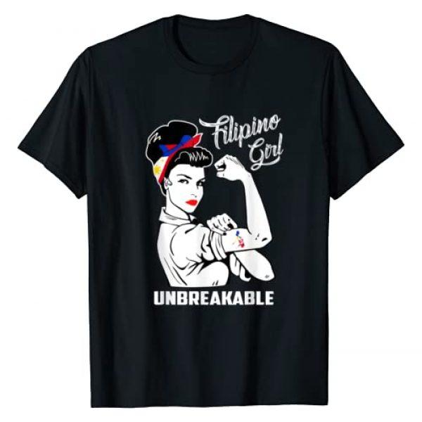 Filipino Girl Unbreakable Shirts Graphic Tshirt 1 Filipino Girl Unbreakable T-Shirt Heritage Philippines Flag