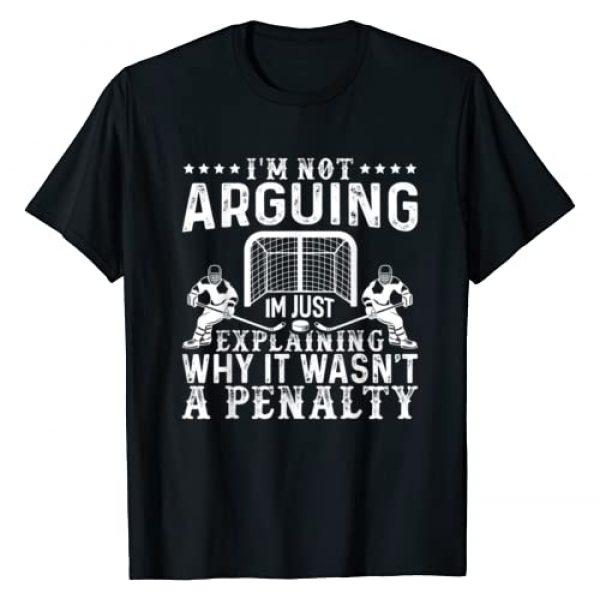 Wintersport & Hockey Tees Graphic Tshirt 1 Hockey Player Arguing Gift Funny Ice Hockey T-Shirt