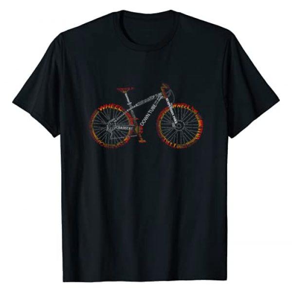TA Cycle Tee Graphic Tshirt 1 Bicycle Amazing anatomy - mountain bike fire red T-Shirt