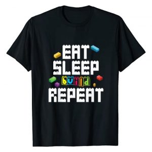 Eat Sleep Build Repeat Master Builder Dressed4Duty Graphic Tshirt 1 Eat Sleep Build Repeat Building Blocks Bricks Master Builder T-Shirt