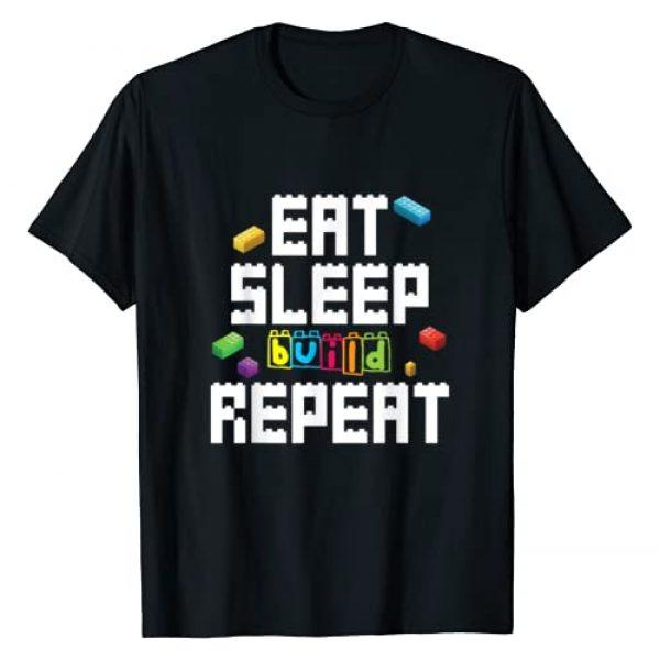 Eat Sleep Build Repeat Master Builder Dressed4Duty Graphic Tshirt 1 Eat Sleep Build Repeat Building Blocks Bricks Master Builder T-Shirt