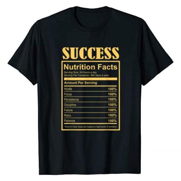 Entrepreneur Motivation Success Gifts Co. Graphic Tshirt 1 Success Ingredients Nutritional Facts Motivational Art Quote T-Shirt