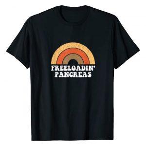 Diabetes Awareness By Design Tee Company Graphic Tshirt 1 Freeloadin Pancreas Funny Type 1 Diabetes Diabetic Gift T-Shirt