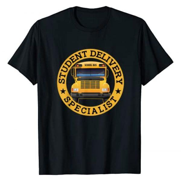 Funny School Bus Driver Shirt Graphic Tshirt 1 Student Delivery Specialist Funny School Bus Driver T-Shirt