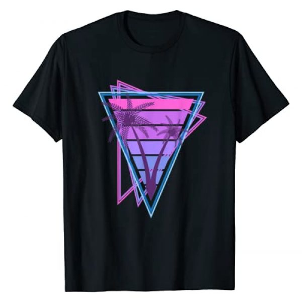 Vaporwave Palm Trees Graphic Tshirt 1 With Retro 80s and 90s Vacation Sunset T-Shirt