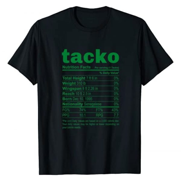 Taco Tuesday Is Every Day In Boston Graphic Tshirt 1 Tacko Nutritional Facts Label Boston Basketball Funny T-Shirt