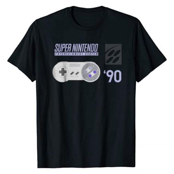 Nintendo Graphic Tshirt 1 Super Nintendo Controller 90 Graphic T-Shirt