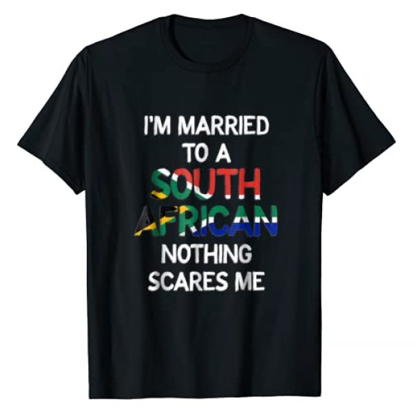 Braai Tongs South Africa Graphic Tshirt 1 I'm Married to a South African - nothing scares me T-shirt