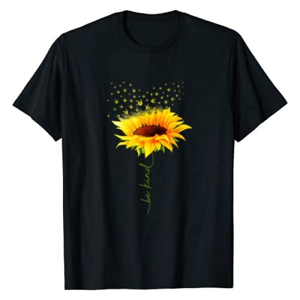 Be Kind Sunflower I Love You Sign Language Tshirt Graphic Tshirt 1 Be Kind Hippie Sunflower I Love You Deaf ASL Sign Language T-Shirt