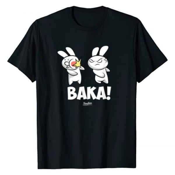 Otaku Manga Anime Manga Kawaii Anime Themed Gifts Graphic Tshirt 1 Funny Anime Baka Rabbit Baka Japanese Anime Lover T-Shirt
