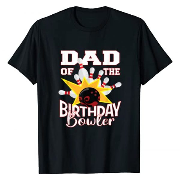 Kids Bowlers Birthday Matching Family Gifts Graphic Tshirt 1 Dad Of The Birthday Bowler Kid Bowling Party T-Shirt