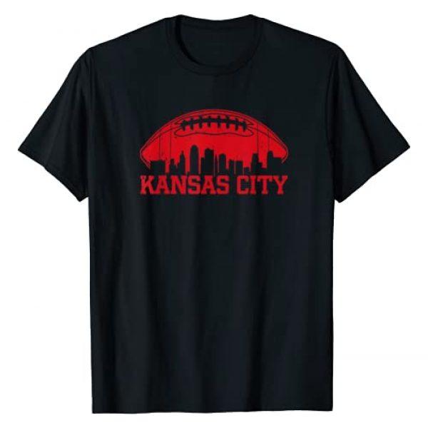 KCRetroFootball&Co. Graphic Tshirt 1 VIntage Kansas City-Football KC Skyline Missouri Retro T-Shirt