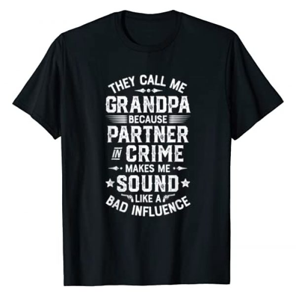 Lique Family Graphic Tshirt 1 They Call Me Grandpa Partner In Crime T shirt Fathers Day T-Shirt