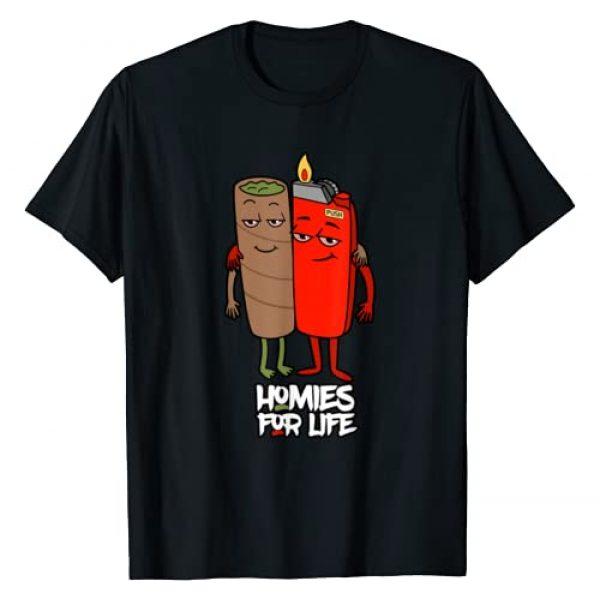 Weed Cannabis Stoner Shirts JG Graphic Tshirt 1 Funny Homies For Life Weed Shirt Marijuana Lover T-Shirt