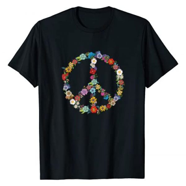 Love and Peace Tee Graphic Tshirt 1 Love and Peace Flower Hippie Lover Beautiful Cute Funny Gift T-Shirt