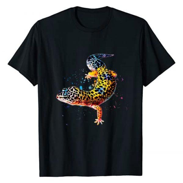 JRR T's Graphic Tshirt 1 Leopard Gecko Watercolor Reptile Keeper Gecko Fan T Shirt T-Shirt