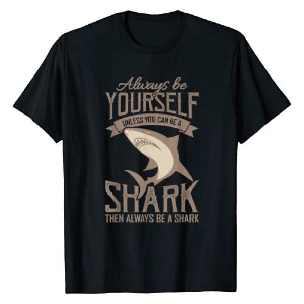 Shark Apparel Shark Clothing Graphic Tshirt 1 Shark Shirt Boys BE A SHARK Scuba Diver Gift T-Shirt