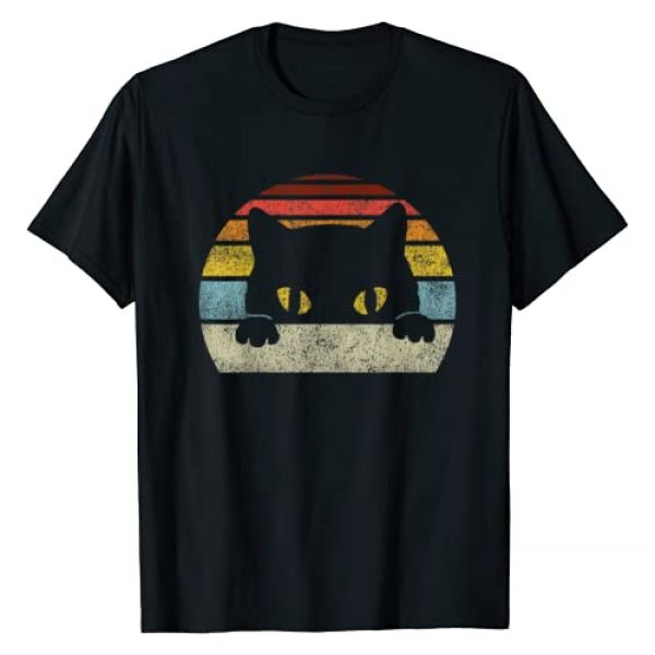 Vintage Cat Gift Graphic Tshirt 1 Vintage Black Cat Lover, Retro Style Cats Gift T-Shirt