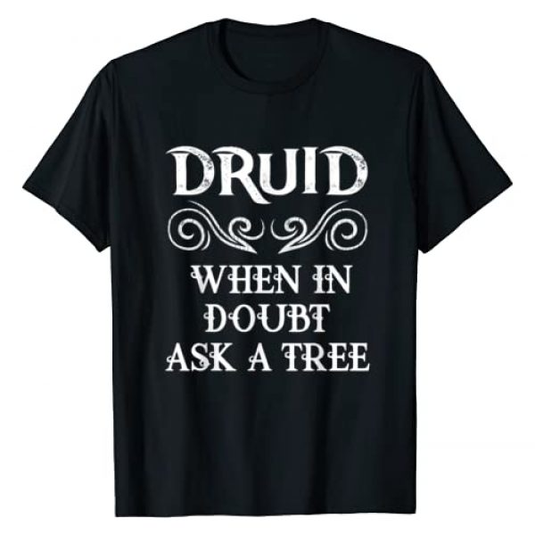 D20 Fantasy Art Geeks Board Game Table Top Classes Graphic Tshirt 1 Druid Class Roleplaying Humor Meme RPG Elf Saying Fun Quote T-Shirt