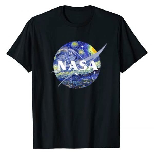 NASA Starry Night Classic Chevron NASA Lover Graphic Tshirt 1 B-day Party Gif T-Shirt