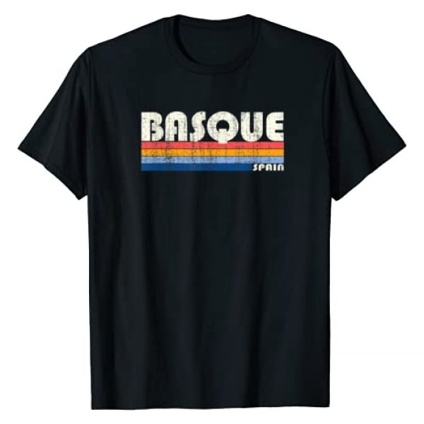 Trendy Retro 70's 80's Style Clothing Graphic Tshirt 1 Vintage 70s 80s Style Basque, Spain T-Shirt