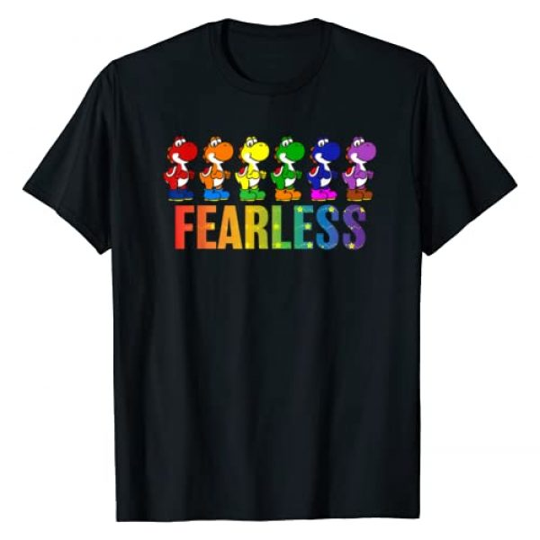 SUPER MARIO Graphic Tshirt 1 Pride Yoshi Fearless Rainbow Line Up T-Shirt