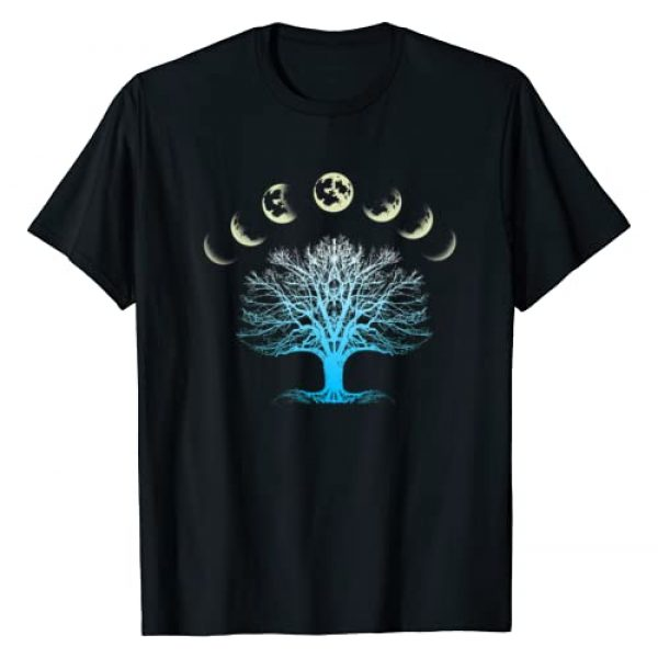 Esoteric SMMBYV Graphic Tshirt 1 Tree Of Life Spiritual Shirt Moonphases as Giftidea for Yoga T-Shirt