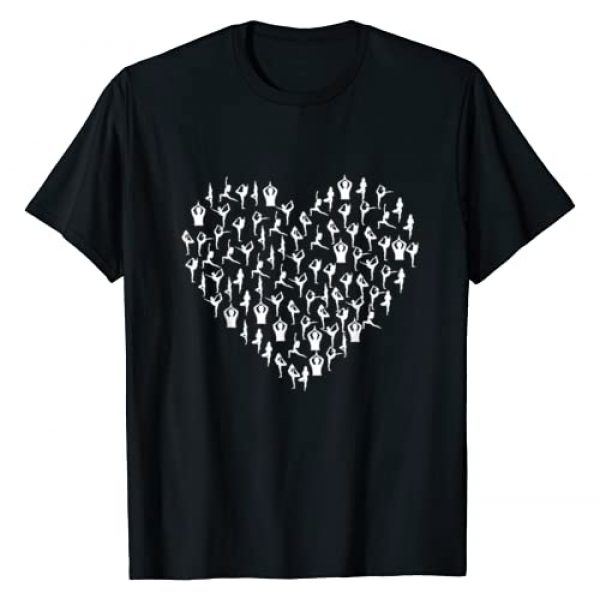 401Merch Yoga Apparel Graphic Tshirt 1 Yoga Poses Positions Heart Stretch Workout Fitness Exercise T-Shirt