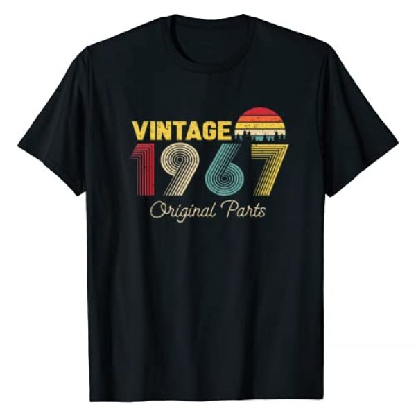 53 Years Old 53th Birthday Gifts Apparel Co. Graphic Tshirt 1 Vintage Original Parts 1967 Gifts for 53 Years Old Birthday T-Shirt