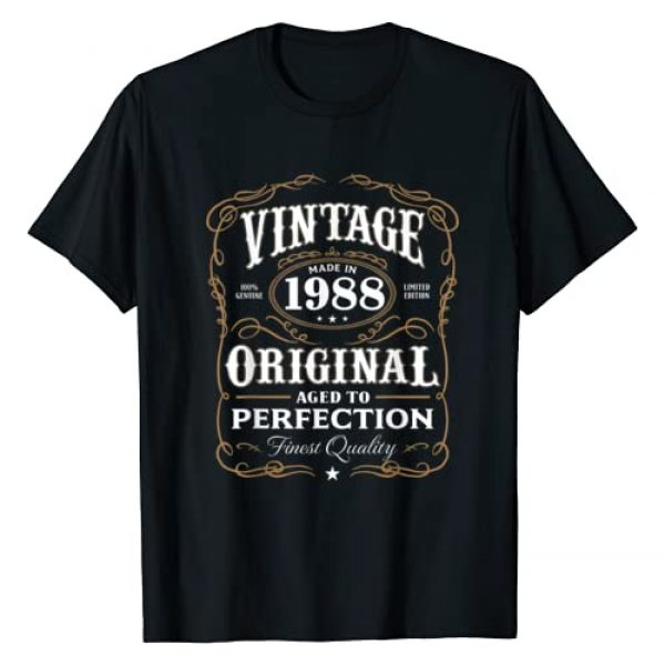 AGED TO PERFECTION Graphic Tshirt 1 Vintage Made In 1988 T-Shirt 30th Birthday Gift
