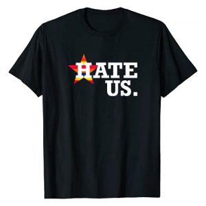 From Houston With Love Houston Baseball Fans Graphic Tshirt 1 Hate Us Houston Baseball Proud Fan Graphic T-Shirt
