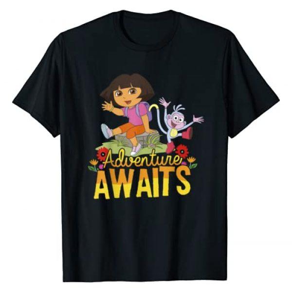 Dora the Explorer Graphic Tshirt 1 Adventure Awaits Dora and Boots Portrait T-Shirt