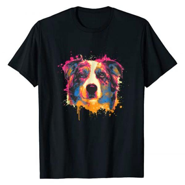 Australian Shepherd Dog Apparel Graphic Tshirt 1 Australian Shepherd Dog Shirt | Splash Aussie Tee Gift