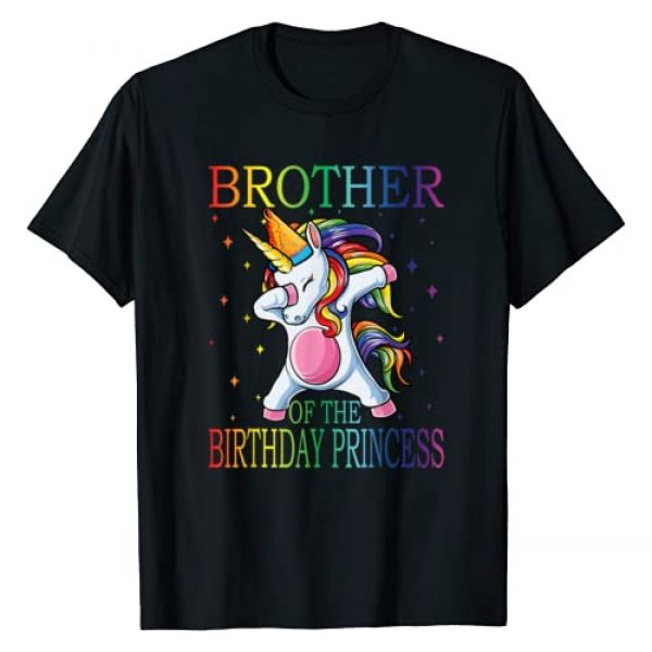 Family Of The Birthday Princess Unicorn Graphic Tshirt 1 Brother Of The Birthday Princess Unicorn T-Shirt
