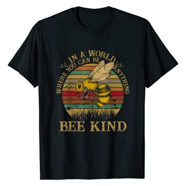 Retro Style Lover Graphic Tshirt 1 Retro Style - In A World Where You Can Be Anything Bee Kind T-Shirt