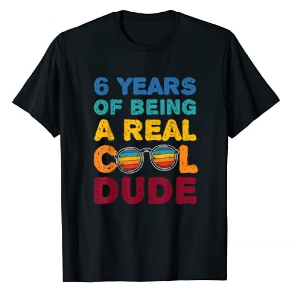 Real Cool Dude Birthday Gift Stuff Co Graphic Tshirt 1 6th Birthday Real Cool Dude Gift for six year old Boys T-Shirt