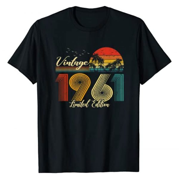 Vintage Limited Edition Graphic Tshirt 1 Vintage 1961 T-Shirt Limited Edition Men Women - 59 Birthday T-Shirt
