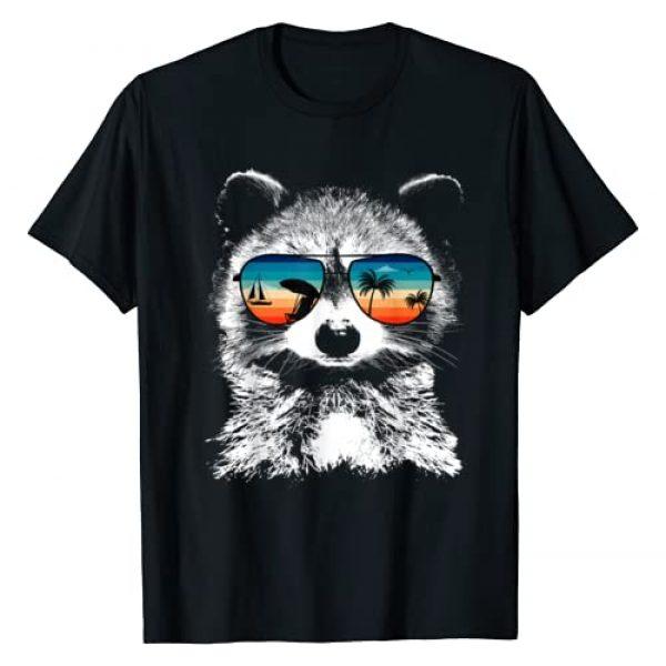 TeeRetro Graphic Tshirt 1 RACCOON Shirts With Glasses Sunglasses Retro Style T-Shirt